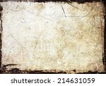grunge scratched frame | Shutterstock . vector #214631059