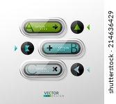 vector colorful design elements.... | Shutterstock .eps vector #214636429