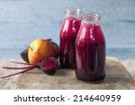 beetroot and apple juice | Shutterstock . vector #214640959