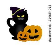 abstract halloween background... | Shutterstock .eps vector #214654015