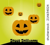 abstract halloween background... | Shutterstock .eps vector #214654024