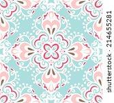 cute blue seamless abstract... | Shutterstock .eps vector #214655281