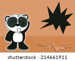 little panda bear cute cartoon... | Shutterstock .eps vector #214661911