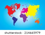 an illustration of a colored... | Shutterstock . vector #214665979