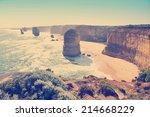 twelve apostles  famous...   Shutterstock . vector #214668229