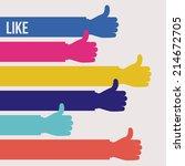 hands design over white... | Shutterstock .eps vector #214672705