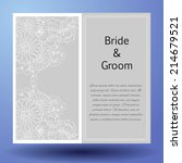wedding invitation cards with... | Shutterstock .eps vector #214679521