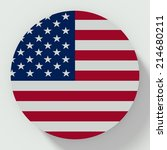 button flat design with flag of ... | Shutterstock . vector #214680211