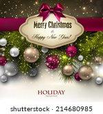 gorgeous christmas gift card... | Shutterstock .eps vector #214680985