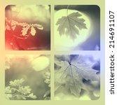 autumn orange collage | Shutterstock . vector #214691107