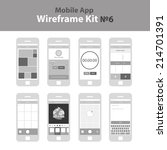 mobile app ui kit 6. gallery...