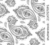 paisley pattern. hand drawn... | Shutterstock .eps vector #214707091