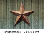 Metal Five Pointed Star On A...
