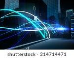 digitally generated blue light... | Shutterstock . vector #214714471