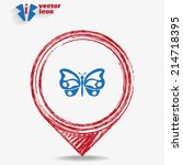vector blue web icon on a red... | Shutterstock .eps vector #214718395