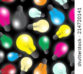 color light bulbs   light... | Shutterstock .eps vector #214720141