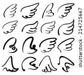 wings icon sketch collection... | Shutterstock .eps vector #214725667