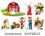 agriculture,background,barn,boy,building,cartoon,chicken,clipart,collection,drawing,exterior,farm,farmers,farming,fruit