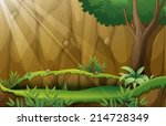 illustration of a jungle scene | Shutterstock .eps vector #214728349