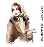 Vintage Winter Woman...