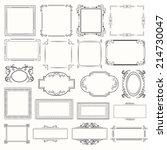 vector picture frames | Shutterstock .eps vector #214730047