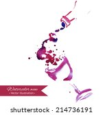 wine background. hand drawn... | Shutterstock .eps vector #214736191