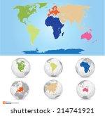 new detailed vector map world...   Shutterstock .eps vector #214741921