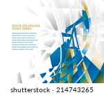dynamic oil derrick vector | Shutterstock .eps vector #214743265