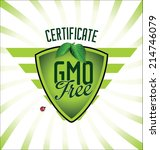 ecology gmo free background | Shutterstock .eps vector #214746079