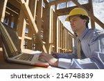 caucasian male architect...   Shutterstock . vector #214748839