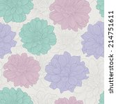 seamless pattern with flowers . ... | Shutterstock .eps vector #214751611
