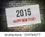 happy new year 2015     poster... | Shutterstock . vector #214764277