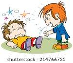 children fighting | Shutterstock .eps vector #214766725