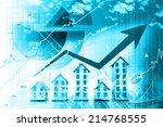 graph of the housing market | Shutterstock . vector #214768555