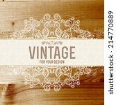vintage frame vector with real... | Shutterstock .eps vector #214770889
