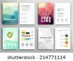 set of flyer  brochure design... | Shutterstock .eps vector #214771114