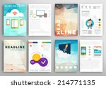 set of flyer  brochure design... | Shutterstock .eps vector #214771135