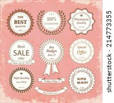 set of hand drawn badges on a... | Shutterstock .eps vector #214773355