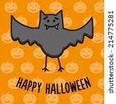 cute halloween vector background | Shutterstock .eps vector #214775281