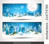 Set Of Two Horizontal Christma...