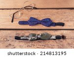 vintage bowties and glasses ... | Shutterstock . vector #214813195