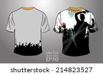 t shirt design. vector  | Shutterstock .eps vector #214823527