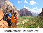Hiking   Hikers Looking At Vie...