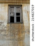 old wall building with windows   Shutterstock . vector #214827019
