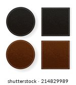round and square leather table... | Shutterstock .eps vector #214829989
