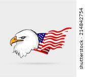 white eagle head with american... | Shutterstock .eps vector #214842754