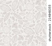 Leaves. Seamless Pattern With...