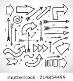 set of doodle sketch arrows.... | Shutterstock .eps vector #214854499
