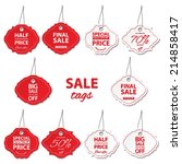 sale labels set. | Shutterstock .eps vector #214858417