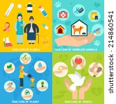 charity social help services... | Shutterstock .eps vector #214860541